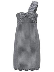 Rochie asimetrica negru-alb in carouri Pepe Jeans Chelo