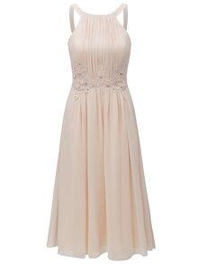 Meruňkové šaty s korálky Little Mistress