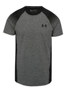 Čierno-sivé pánske melírované funkčné tričko Under Armour