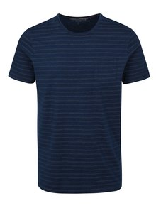 Tricou albastru slim fit cu model Jack & Jones Clark