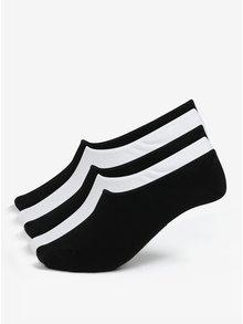 Sada pěti párů nízkých ponožek v černé a bílé barvě Jack & Jones Basic