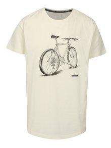 Krémové pánske tričko s krátkym rukávom a potlačou Maloja