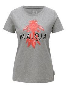 Sivé dámske tričko s krátkym rukávom Maloja