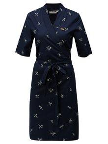 Tmavě modré zavinovací šaty Maloja