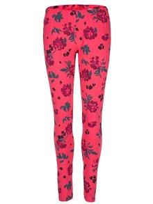 Ružové dámske kvetované legíny LOAP Baibe