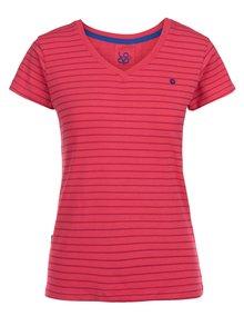 Ružové dámske pruhované tričko LOAP Basha