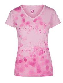 Světle růžové dámské tričko s potiskem LOAP Byblosa