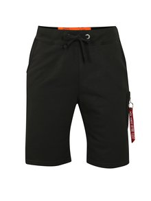 Pantaloni barbatesti scurti sport negri ALPHA INDUSTRIES