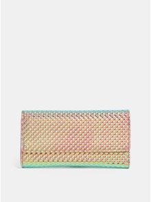 Tyrkysovo-růžová metalická peněženka s plastickým vzorem Anna Smith