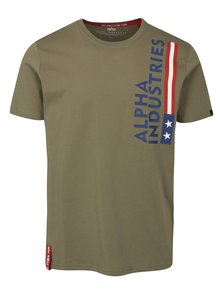 Tricou barbatesc verde ALPHA INDUSTRIES