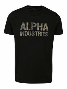 Černé pánské tričko s krátkým rukávem ALPHA INDUSTRIES