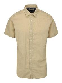 Béžová ľanová košeľa Jack & Jones New