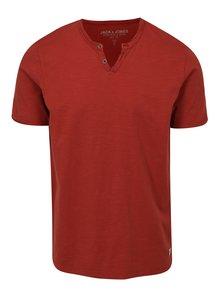 Tehlové tričko Jack & Jones Premium Benjamin