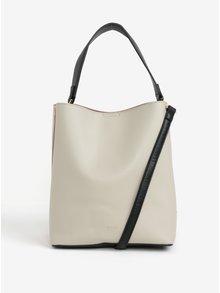 Ružovo-krémová kabelka s detailmi v zlatej farbe Nalí
