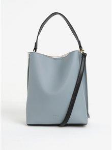 Krémovo-modrá kabelka s detailmi v zlatej farbe Nalí