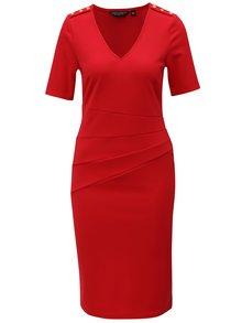 Červené šaty s véčkovým výstrihom Dorothy Perkins