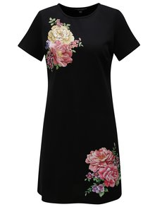 Čierne šaty s potlačou Dorothy Perkins