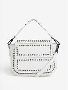 Bílá malá kabelka s cvočky ve stříbrné barvě Nalí
