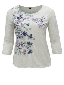 Sivý dámsky sveter s výšivkou M&Co