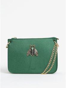 Zelená kabelka s ozdobou a detailmi v zlatej farbe Nalí
