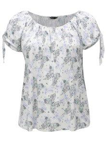 Krémové vzorované tričko M&Co