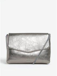 Metalická crossbody kabelka ve stříbrné barvě Nalí