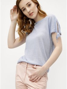 Světle modré dámské tričko M&Co