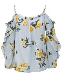 Svetlomodrá kvetovaná blúzka s volánmi Dorothy Perkins