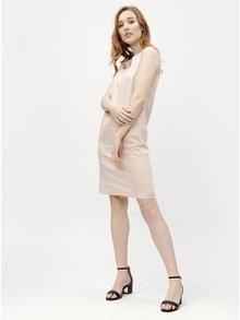 Světle růžové lněné šaty M&Co