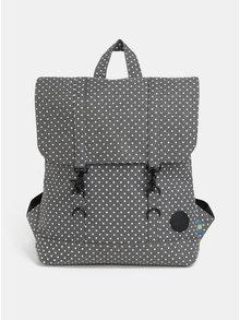 Šedý dámský puntíkovaný batoh Enter City Mini 8 l