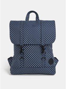 Tmavě modrý dámský puntíkovaný batoh Enter City Mini 8 l