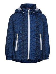Čierno–modrá chlapčenská funkčná bunda s kapucňou Reima Zigzag
