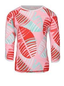 Ružové dievčenské plavkové tričko s dlhým rukávom Reima Costa