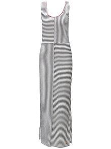 Rochie maxi negru-alb in dungi Skunkfunk