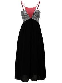 Čierne šaty s pruhovaným topom Skunkfunk Udara