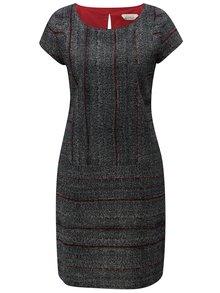Sivo-čierne vzorované šaty Skunkfunk Elosta