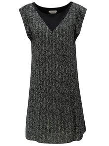 Sivo-čierne voľné vzorované šaty Skunkfunk Geretz