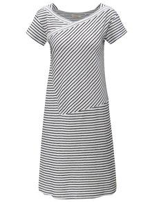 Čierno-biele pruhované šaty Skunkfunk