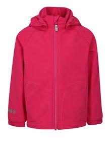 Ružová dievčenská softshellová vodovzdorná bunda s kapucňou Reima Vantti