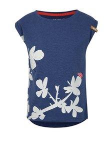 Tmavomodré dievčenské tričko s potlačou Reima Leinikki