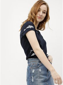 Tricou de dama albastru inchis cu print pesti Ragwear Mint A Organic