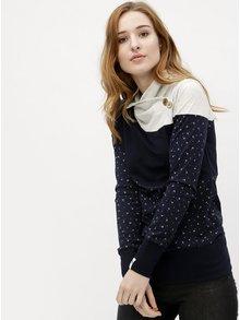 Tmavomodré dámske tričko s dlhým rukávom Ragwear Nest Block Organic