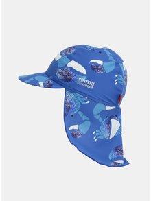Modrá klučičí vzorovaná čepice proti slunci Reima Turtle