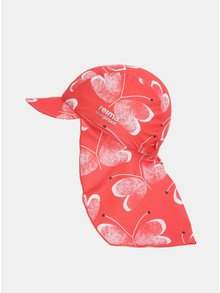 Červená dievčenská vzorovaná čiapka proti slnku Reima Octopus