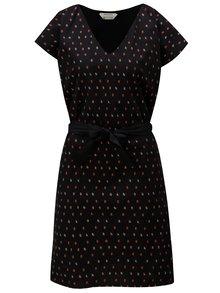 Čierne vzorované šaty Skunkfunk Adana