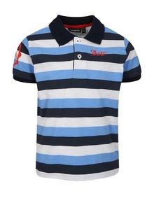 Bílo-modré klučičí pruhované polo tričko Mix´n Match