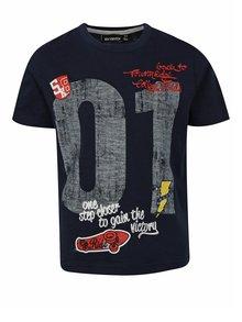 Tmavomodré chlapčenské tričko s potlačou Mix´n Match