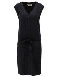 Tmavosivé melírované šaty Skunkfunk