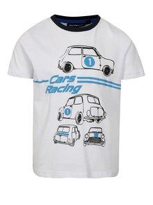 Bílé klučičí tričko s motivem aut Mix´n Match