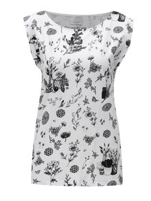 Biele vzorované tričko Skunkfunk
